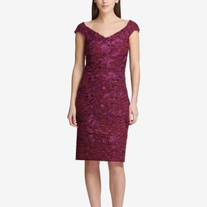 Gorgeous purple DKNY lace sheath dress, size 12
